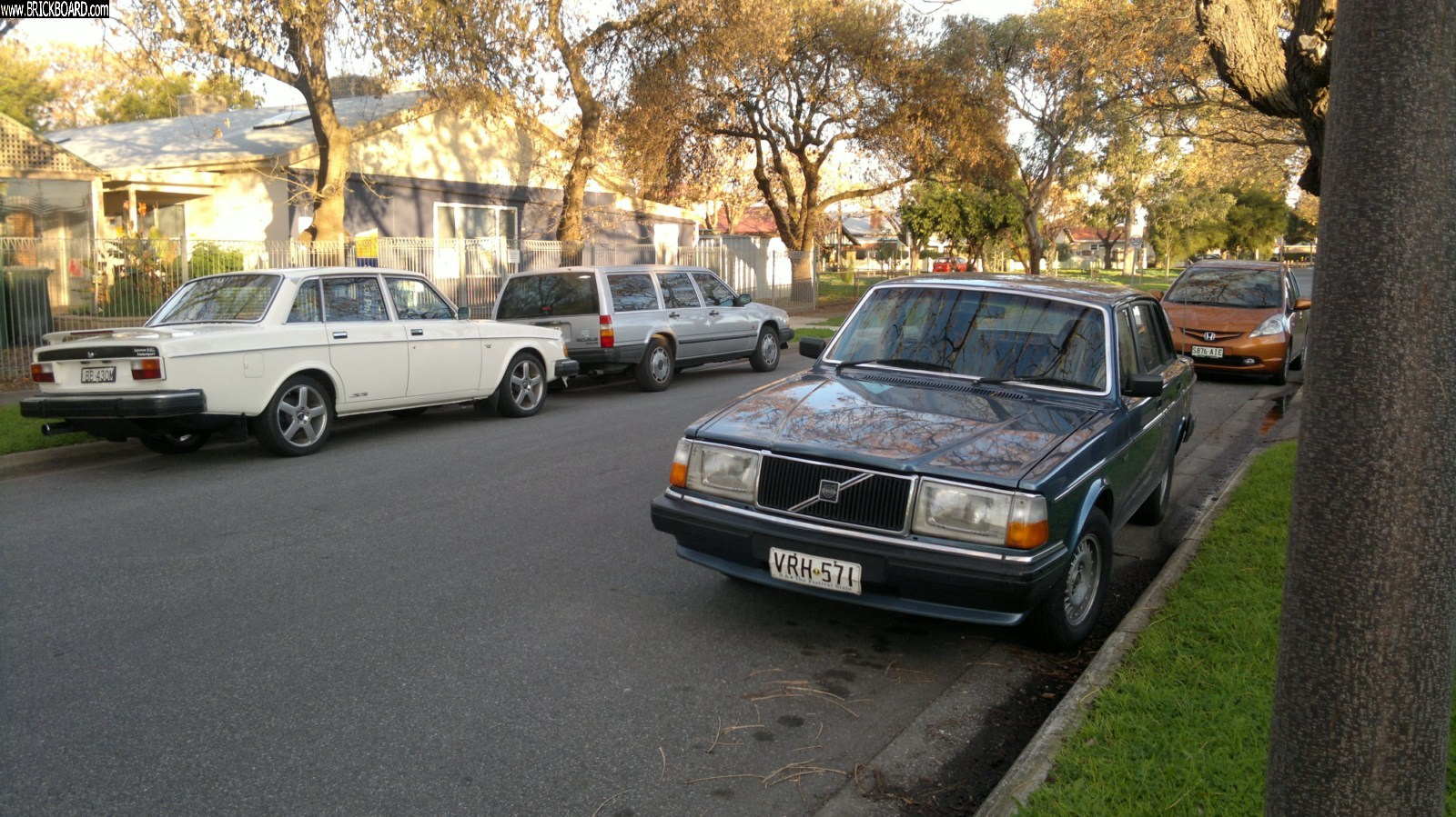 Volvo  -- All out on the street together.